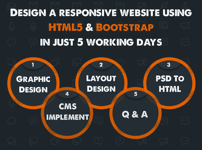 Design a responsive website using HTML5 & Bootstrap in just 3 working days
