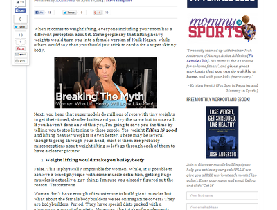 Write a 1000 word authoritative health & fitness article