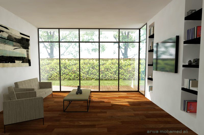 Create a realistic 3d images of your space/room