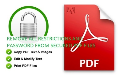 Unlock and edit secured pdf files