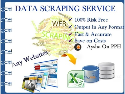 Help you with 1 hours web research, data scarping