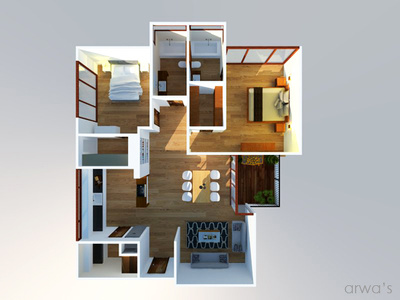 Convert your 2d floor plan in to 3d model