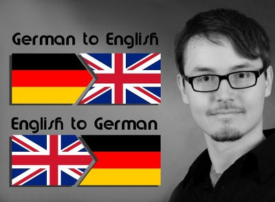 translate English to German or viceversa up to 500 words