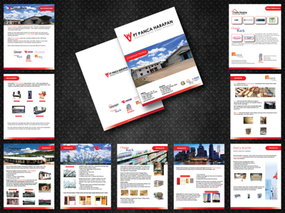 Design a clean, modern company/business  profile design (A3, A4 or A5) 6- 8 page
