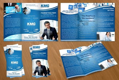 Design brochure tri-fold / bi-fold for your  promotion company solution
