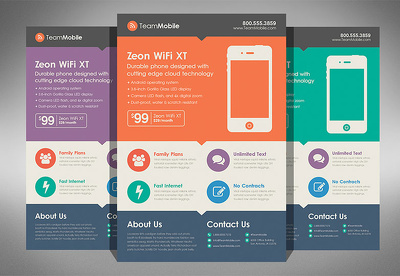 Do clean modern Flat design website 1 page PSD design