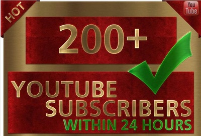 200 plus real human Youtube subscribers quickly without your password