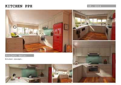 Do 3D Model and photo-realistic interior render for one room