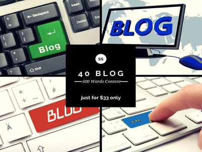Write 500+ words blog content for you and can submit into 30 high PR blog sites