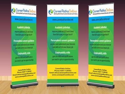 Design roll up banner / hoarding / backlight