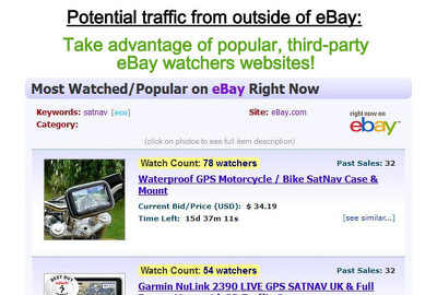 Add lots of genuine eBay watchers to your auctions