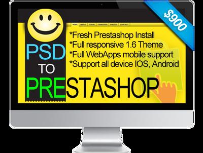 Create PSD to  prestashop 1.6.x full responsive custom theme, ready eCommerce