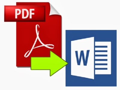Convert a PDF file into a Word document or in Excel