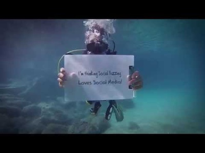 Create a video message underwater - fantastic marketing for your company or brand!