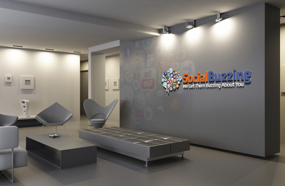 Make an awesome eye catching virtual business office with your logo
