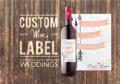 Create you a personalised label for wine or home brewed beer