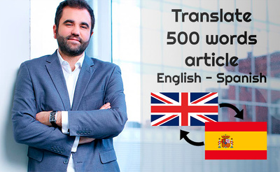 translate from English to Spanish 500 words document in 1 day