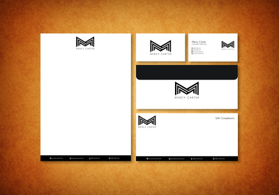 Design Premium quality Business card+letterhead + envelop+Folder