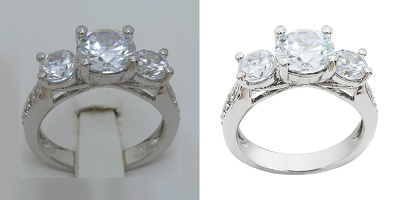 Retouch 50 jewelry images(background removal and enhancements)