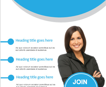 Design a good looking flyer with unlimited revisions