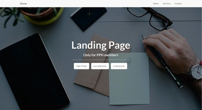 Build simple and professional HTML Landing Page