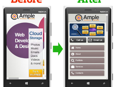 Convert or create a mobile + tablet friendly responsive website