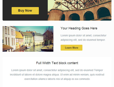 Design your HTML newsletter, email campaign with responsive option