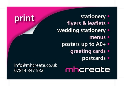 Design, print and deliver 500 double sided 400gsm matt laminate business cards