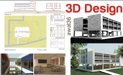 create 3D illustration of your architectural Drawings or Plans