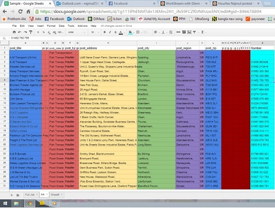 Do  1000 contact listing of data entry/scraping  and web researching