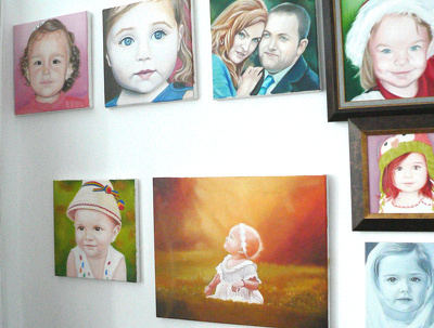 Create beautiful 30x30cm oil painting's from your photographs