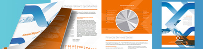 Design you an 8-page annual/corporate report
