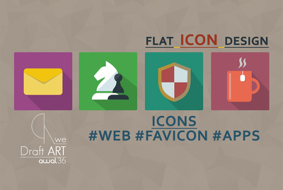 Design flat icon for web or apps