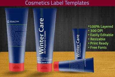 Design professional cosmetics label