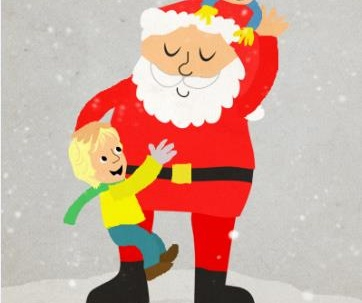 Create a custom Christmas illustration for children / pets / family