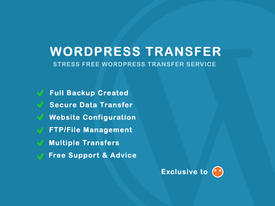 Transfer your WordPress website to any new hosting provider