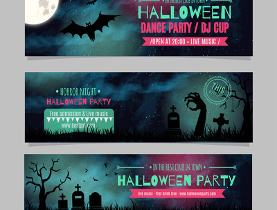 Make a Hallowen Flyer, Banner, Leaflet, FB Timeline
