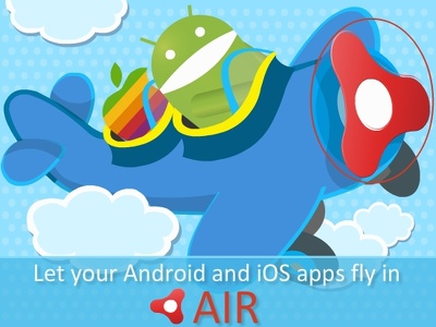 Program a simple android app with AIR