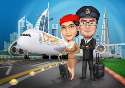 Draw premium digital caricature/cartoon or illustration from your photo