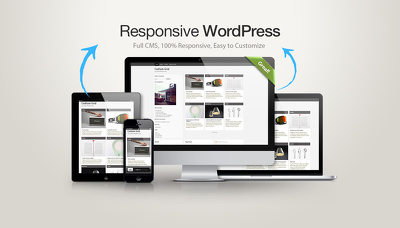 Create fully responsive WordPress website for your company or personal website