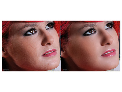 Do portrait retouching of 3 images