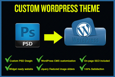 Design a great PSD Web Template and Also Convert into wordpress theme