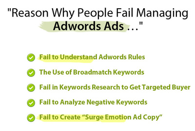 Do adword keywords research and write ad copy