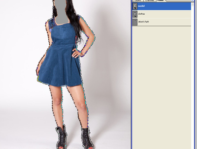 Photoshop multiple clipping path 10 images