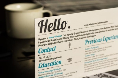Design your CV and make you stand out from the rest