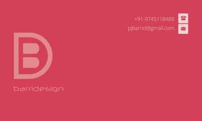 Double side business card design with unlimited rivisions