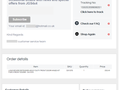 Linnworks Responsive Custom Dispatch Confirmation Mail Template