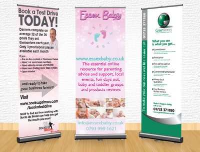 Design you a promotional/roller banner