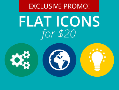 Create a high quality set of flat icon design