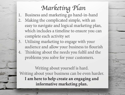Write a marketing plan for your company with a timeline of activities
